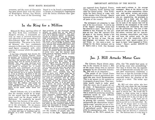 Article Preview: Jas. J. Hill Attacks Motor Cars, July 1910 | Maclean's