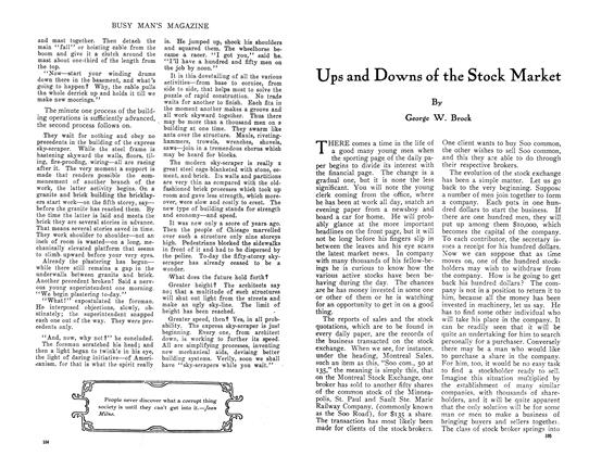 Article Preview: Ups and Downs of the Stock Market, July 1910 | Maclean's
