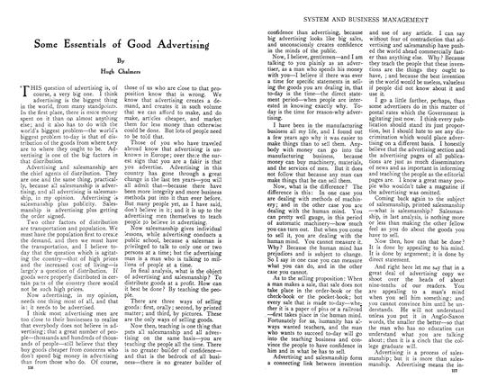 Article Preview: Some Essentials of Good Advertising, July 1910 | Maclean's