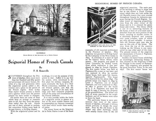 Article Preview: Seignorial Homes of French Canada, July 1910 | Maclean's