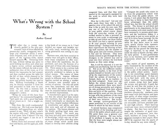 Article Preview: What's Wrong with the School System ?, August 1910 | Maclean's