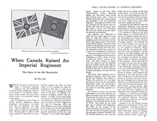 Article Preview: When Canada Raised An Imperial Regiment, September 1910 | Maclean's