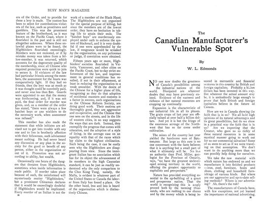 Article Preview: The Canadian Manufacturer's Vulnerable Spot, September 1910 | Maclean's