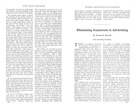 Article Preview: Eliminating Guesswork in Advertising, September 1910 | Maclean's