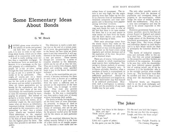 Article Preview: Some Elementary Ideas About Bonds, September 1910   Maclean's