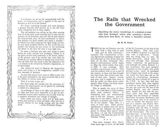 Article Preview: The Rails that Wrecked the Government, November 1910 | Maclean's