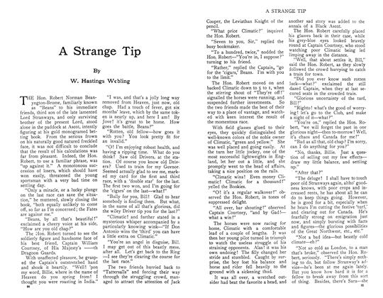Article Preview: A Strange Tip, November 1910 | Maclean's