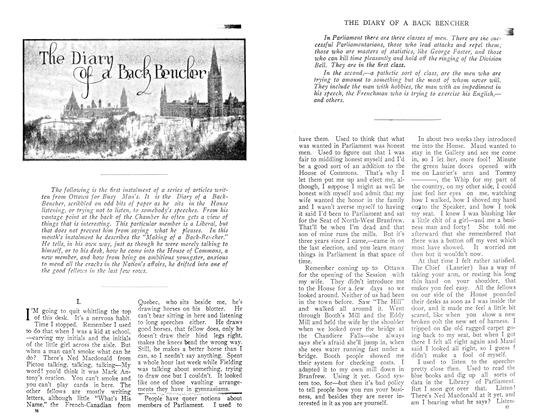 Article Preview: The Diary of a back Bencher, December 1910 | Maclean's
