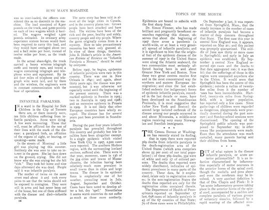 Article Preview: INFANTILE PARALYSIS., December 1910 | Maclean's