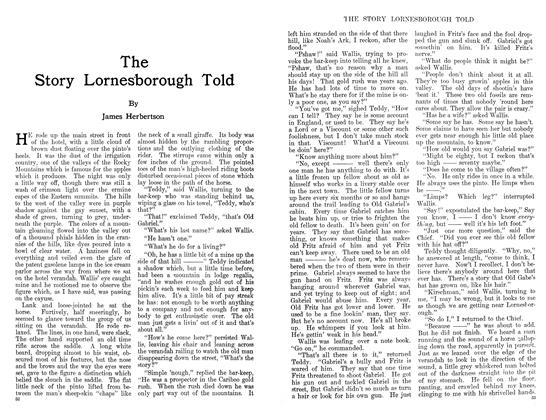 Article Preview: The Story Lornesborough Told, January 1911 | Maclean's