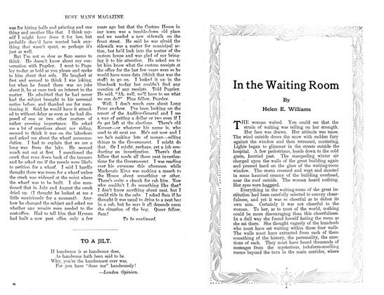 Article Preview: In the Waiting Room, January 1911 | Maclean's