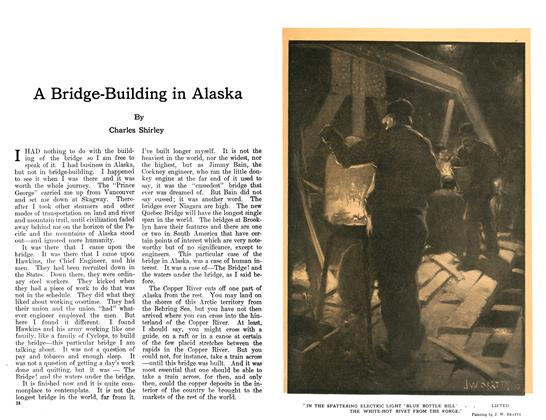 Article Preview: A Bridge-Building in Alaska, January 1911 | Maclean's