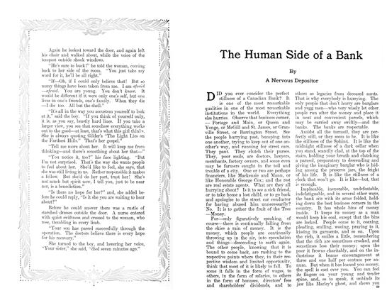 Article Preview: The Human Side of a Bank, January 1911 | Maclean's