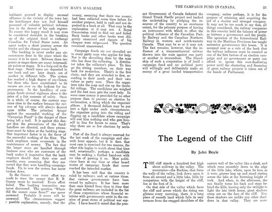 Article Preview: The Legend of the Cliff, February 1911 | Maclean's