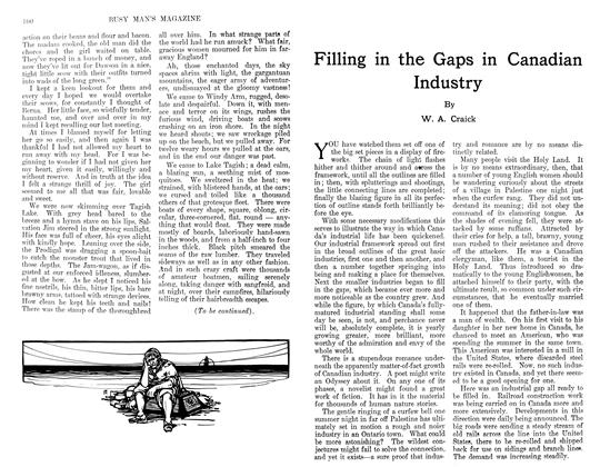 Article Preview: Filling in the Gaps in Canadian Industry, February 1911 | Maclean's