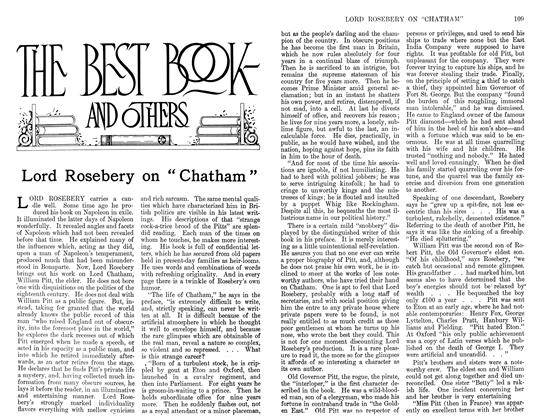"""Article Preview: Lord Rosebery on """"Chatham"""", February 1911 