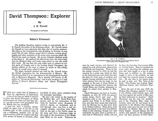 Article Preview: David Thompson: Explorer, March 1911 | Maclean's