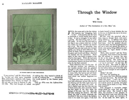 Article Preview: Through the Window, April 1911 | Maclean's