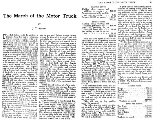 Article Preview: The March of the Motor Truck, April 1911 | Maclean's