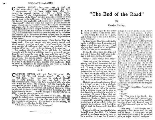"Article Preview: ""The End of the Road"", April 1911 