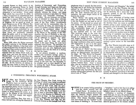 Article Preview: TEE PRICE OF PRUDERY., April 1911   Maclean's