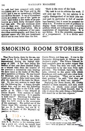 Article Preview: SMOKING ROOM STORIES, April 1911 | Maclean's