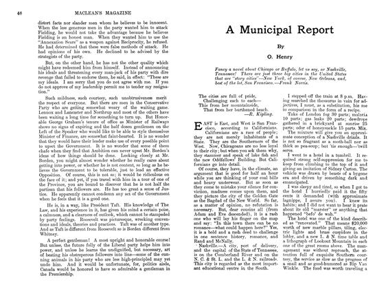 Article Preview: A Municipal Report, May 1911 | Maclean's
