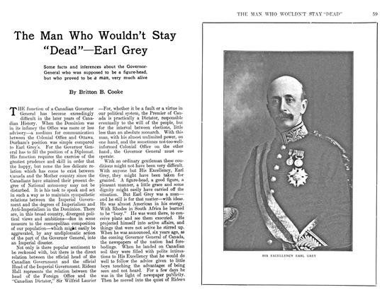 """Article Preview: The Man Who Wouldn't Stay """"Dead""""—Earl Grey, May 1911 