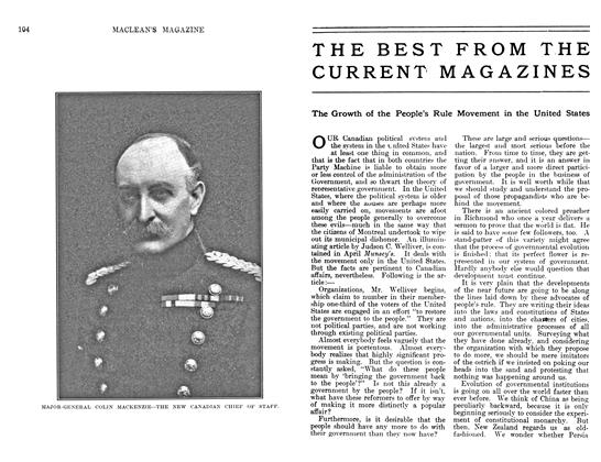 Article Preview: THE BEST FROM THE CURRENT MAGAZINES, May 1911 | Maclean's
