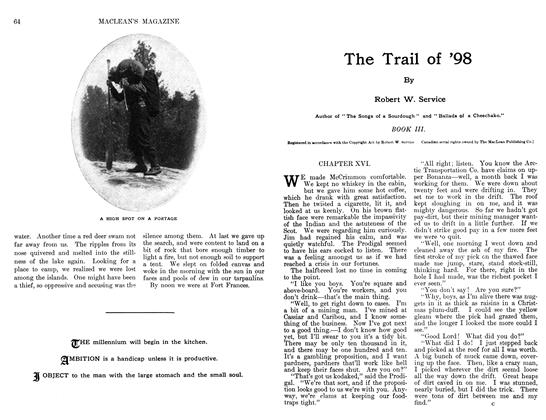 Article Preview: The Trail of '98, June 1911 | Maclean's
