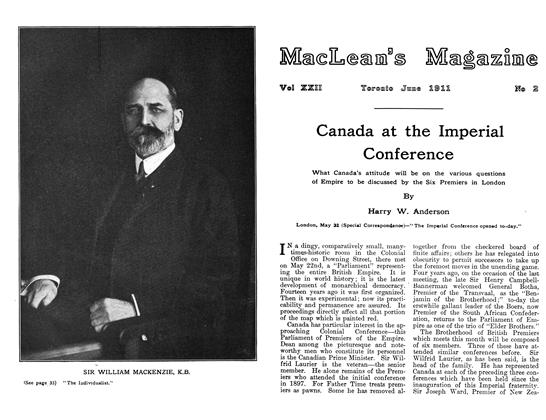 Article Preview: Canada at the Imperial Conference, June 1911 | Maclean's