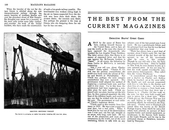 Article Preview: Detective Burns' Great Cases, June 1911 | Maclean's