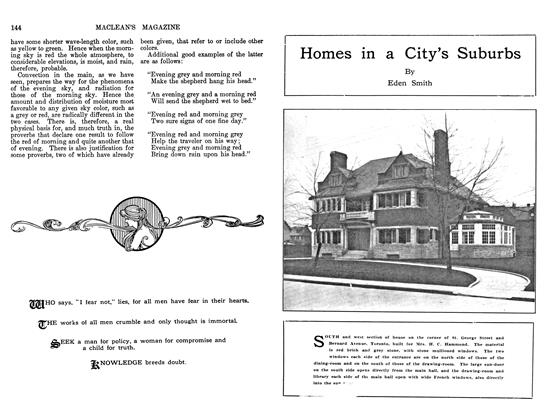 Article Preview: Homes in a City's Suburbs, June 1911 | Maclean's