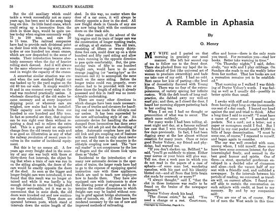 Article Preview: A Ramble in Aphasia, JUIY 1911 1911 | Maclean's
