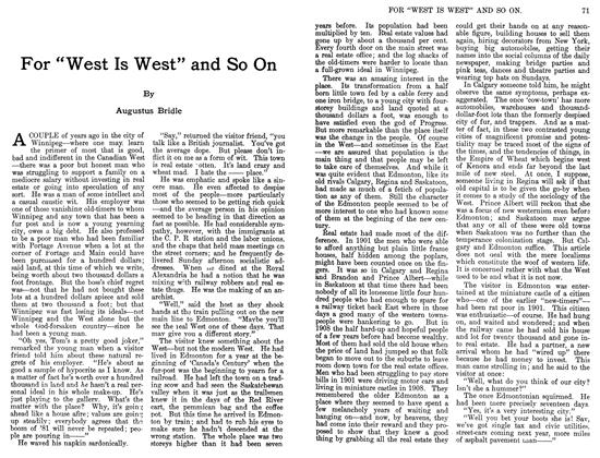 "Article Preview: For ""West Is West"" and So On, JUIY 1911 1911 