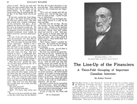 Article Preview: The Line-Up of the Financiers, August 1911 | Maclean's