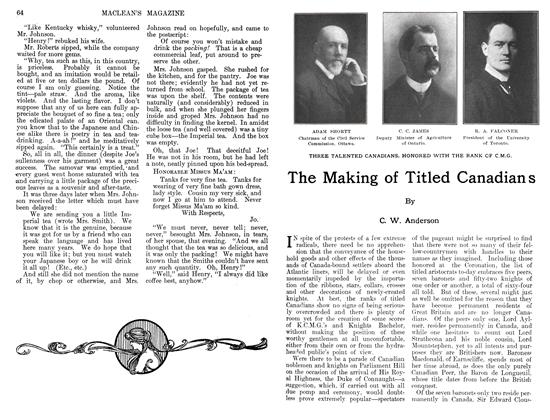 Article Preview: The Making of Titled Canadians, August 1911 | Maclean's