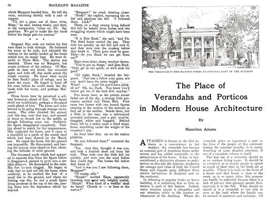 Article Preview: The Place of Verandahs and Porticos in Modern House Architecture, August 1911 | Maclean's