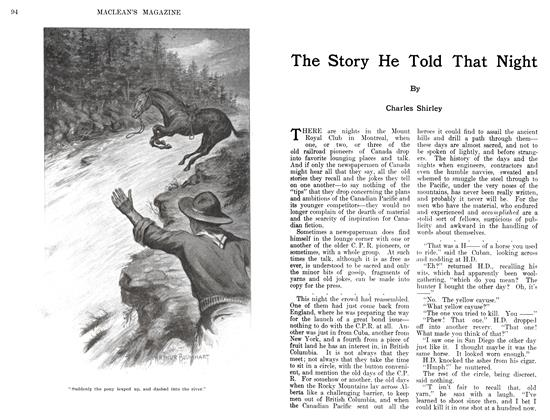 Article Preview: The Story He Told That Night, August 1911 | Maclean's