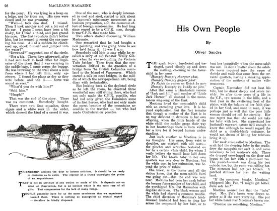 Article Preview: His Own People, August 1911 | Maclean's