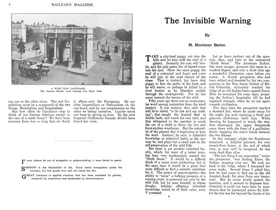 Article Preview: The Invisible Warning, August 1911 | Maclean's