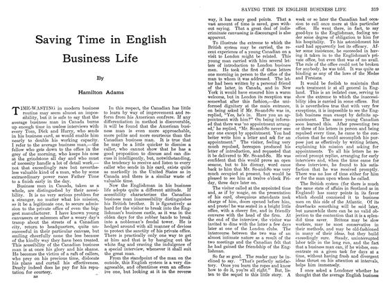 Article Preview: Saving Time in English Business Life, September 1911 | Maclean's