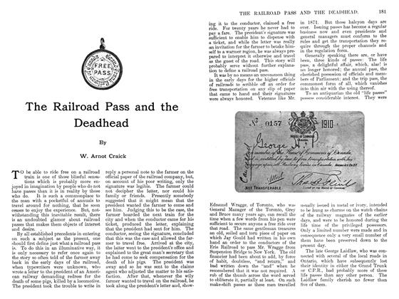 Article Preview: The Railroad Pass and the Deadhead, September 1911 | Maclean's