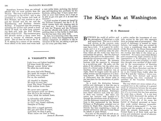 Article Preview: The King's Man at Washington, September 1911 | Maclean's