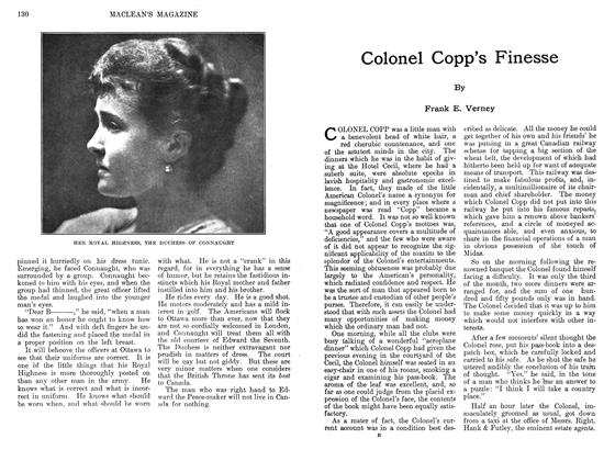 Article Preview: Colonel Copp's Finesse, September 1911 | Maclean's