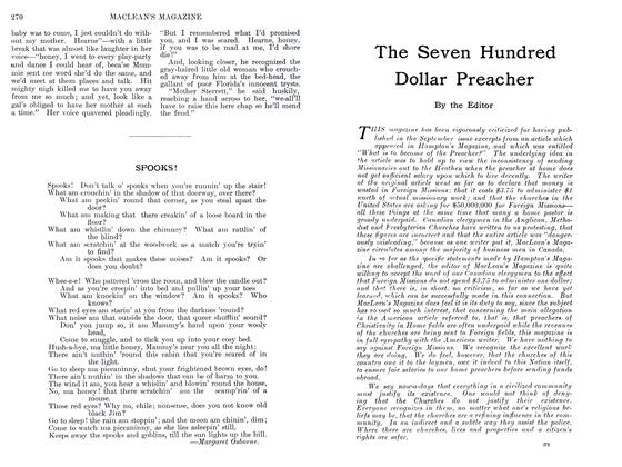 Article Preview: The Seven Hundred Dollar Preacher, September 1911 | Maclean's