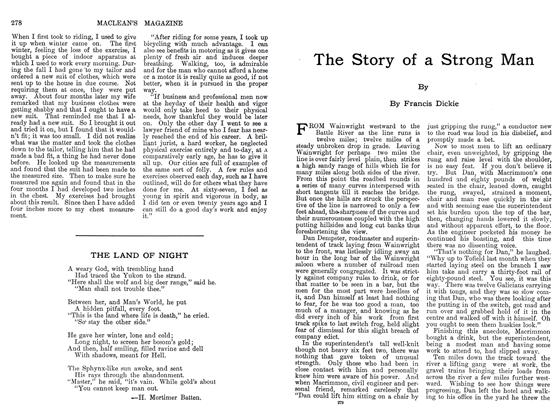 Article Preview: The Story of a Strong Man, September 1911 | Maclean's