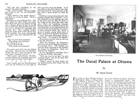Article Preview: The Ducal Palace at Ottawa, September 1911 | Maclean's
