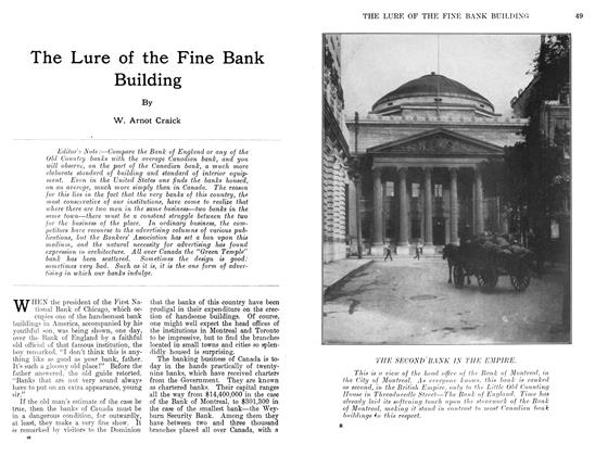 Article Preview: The Lure of the Fine Bank Building, November 1911 | Maclean's