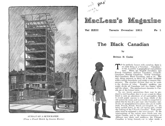Article Preview: The Black Canadian, November 1911 | Maclean's